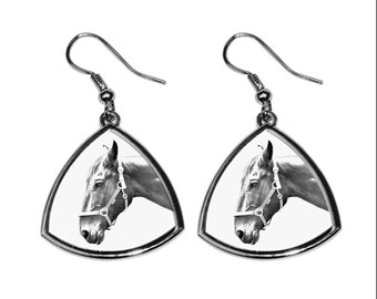 Hanoverian, collection of earrings with images of purebred horses, unique gift. Collection!