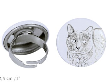 Ring with a cat - Korat