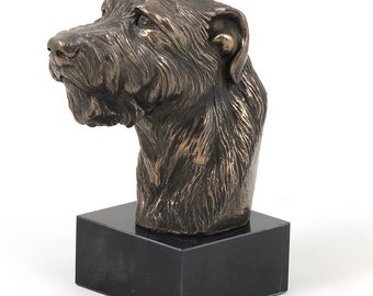 Irish Wolfhound, dog marble statue, limited edition, ArtDog. Made of cold cast bronze. Solid, perfect gift. Limited edition.