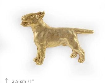 Bull Terrier (body), millesimal fineness 999, dog pin, limited edition, ArtDog