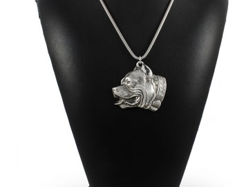 NEW, Pit Bull, dog necklace, silver chain 925, limited edition, ArtDog