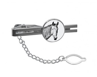 NEW! Namib Desert Horse  - Tie pin with an image of a horse.