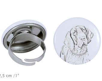Ring with a dog- Bracco Italiano