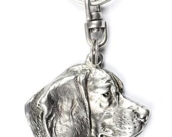 NEW, Beagle, Tricolour Beagle, dog keyring, key holder, limited edition, ArtDog . Dog keyring for dog lovers