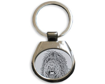 Barbet - NEW collection of keyrings with images of purebred dogs, unique gift, sublimation . Dog keyring for dog lovers