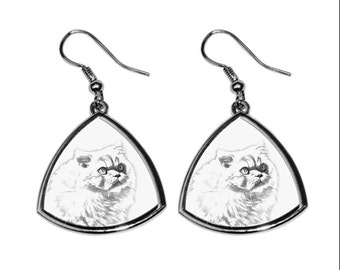 Himalayan cat, collection of earrings with images of purebred cats, unique gift. Collection!