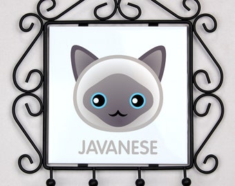 A key rack, hangers with Javanese cat. A new collection with the cute Art-dog cat