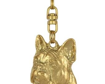 French Bulldog, millesimal fineness 999, dog keyring, keychain, limited edition, ArtDog . Dog keyring for dog lovers