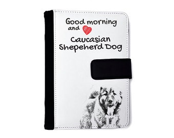 Caucasian Shepherd Dog- Notebook with the calendar of eco-leather with an image of a dog! NEW COLLECTION!