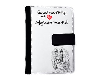 Afghan Hound- Notebook with the calendar of eco-leather with an image of a dog! NEW COLLECTION!