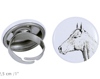 Ring with a horse - Holsteiner