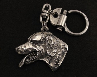 Dalmatian, dog keyring, keychain, limited edition, ArtDog . Dog keyring for dog lovers