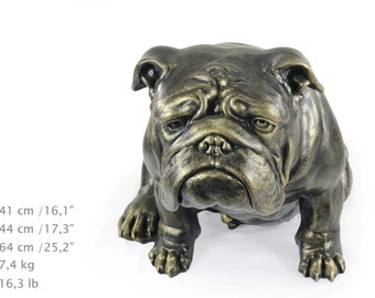 English British Bulldog, dog natural size statue, limited edition, ArtDog