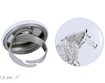 Ring with a horse - Percheron