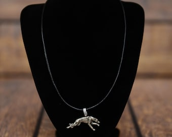 Grey Hound , dog necklace, limited edition, extraordinary gift, ArtDog