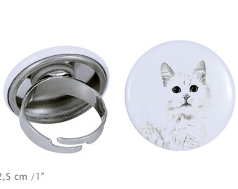 Ring with a cat - Turkish Van