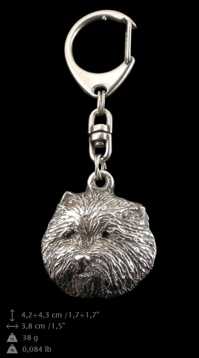 NEW PRESTIGE set dog keyring West Highland White Terrier ArtDog necklace and pin in casket limited edition