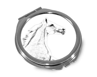 Czech Warmblood - Pocket mirror with the image of a horse.