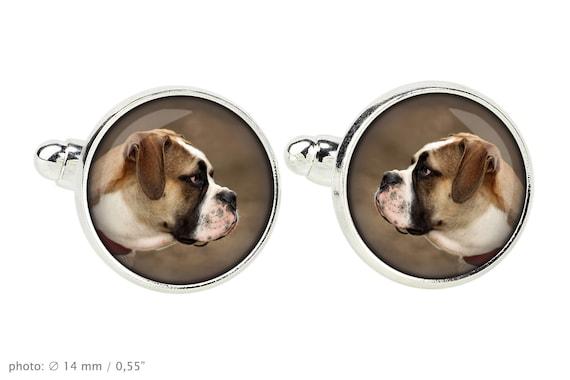Tie clip for dog lovers Men/'s jewellery Photo jewellery American Bulldog Handmade