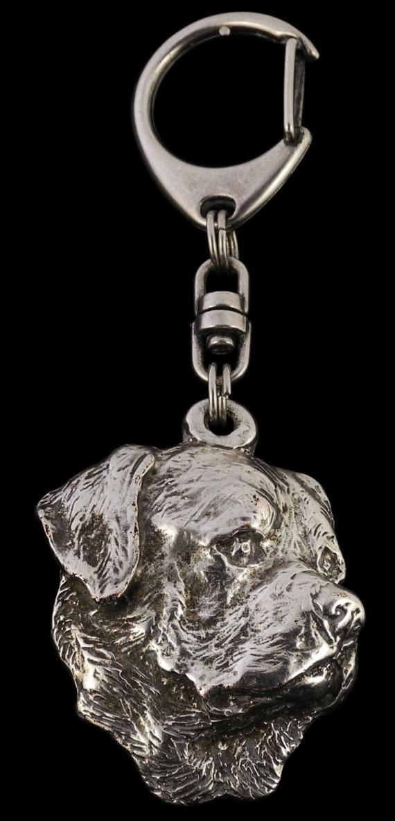 Exceptional Gift Dog Crystal Keyring Keychain Bloodhound