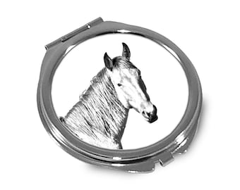Namib Desert Horse - Pocket mirror with the image of a horse.