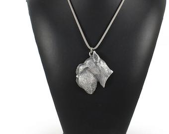 NEW, Schnauzer, dog necklace, silver chain 925, limited edition, ArtDog