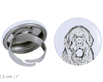 Ring with a dog - Newfoundland