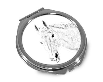 Orlov Trotter - Pocket mirror with the image of a horse.
