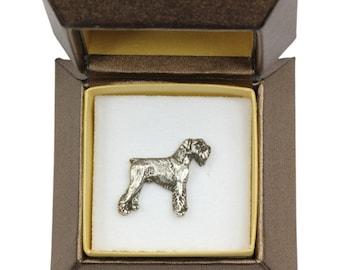 NEW, Schnauzer (body), dog pin, in casket, limited edition, ArtDog