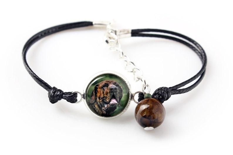 Bracelet for people who love dogs Handmade. Brazilian Mastiff Photojewelry