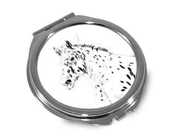 Noriker - Pocket mirror with the image of a horse.