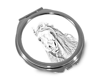 Pintabian  - Pocket mirror with the image of a horse.
