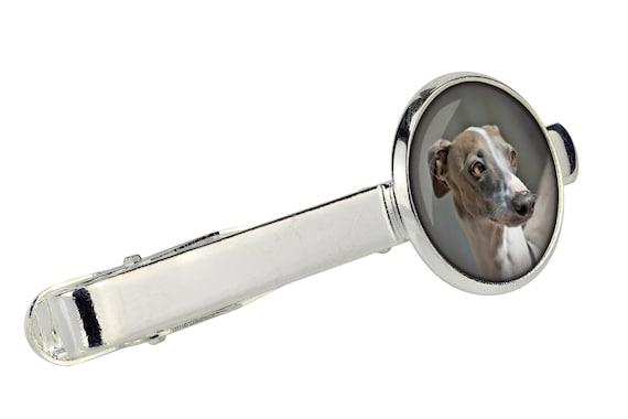 Handmade Men/'s jewellery Tie clip for dog lovers Clumber Spaniel Photo jewellery