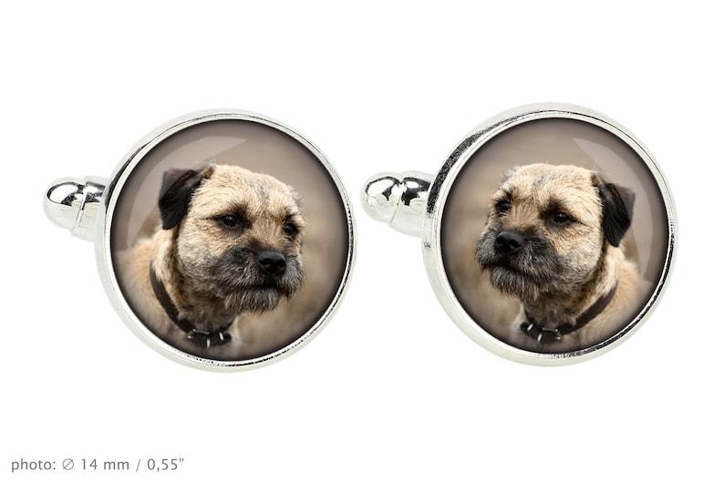 Men/'s jewellery Border Terrier Cufflinks with box for dog lovers Photo jewellery Handmade