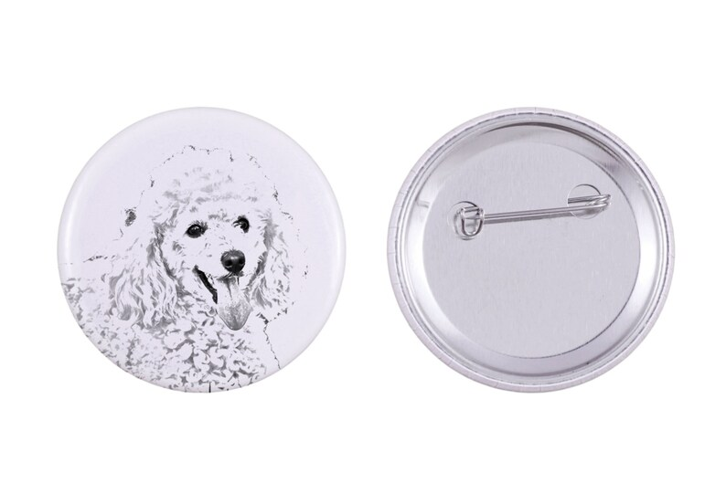 Poodle Buttons with a dog