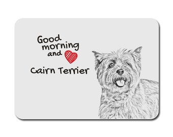 Cairn Terrier, A mouse pad with the image of a dog. Collection!