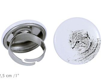 Ring with a cat -Highland Lynx