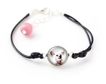 Chinese Crested Dog. Bracelet for people who love dogs. Photojewelry. Handmade.