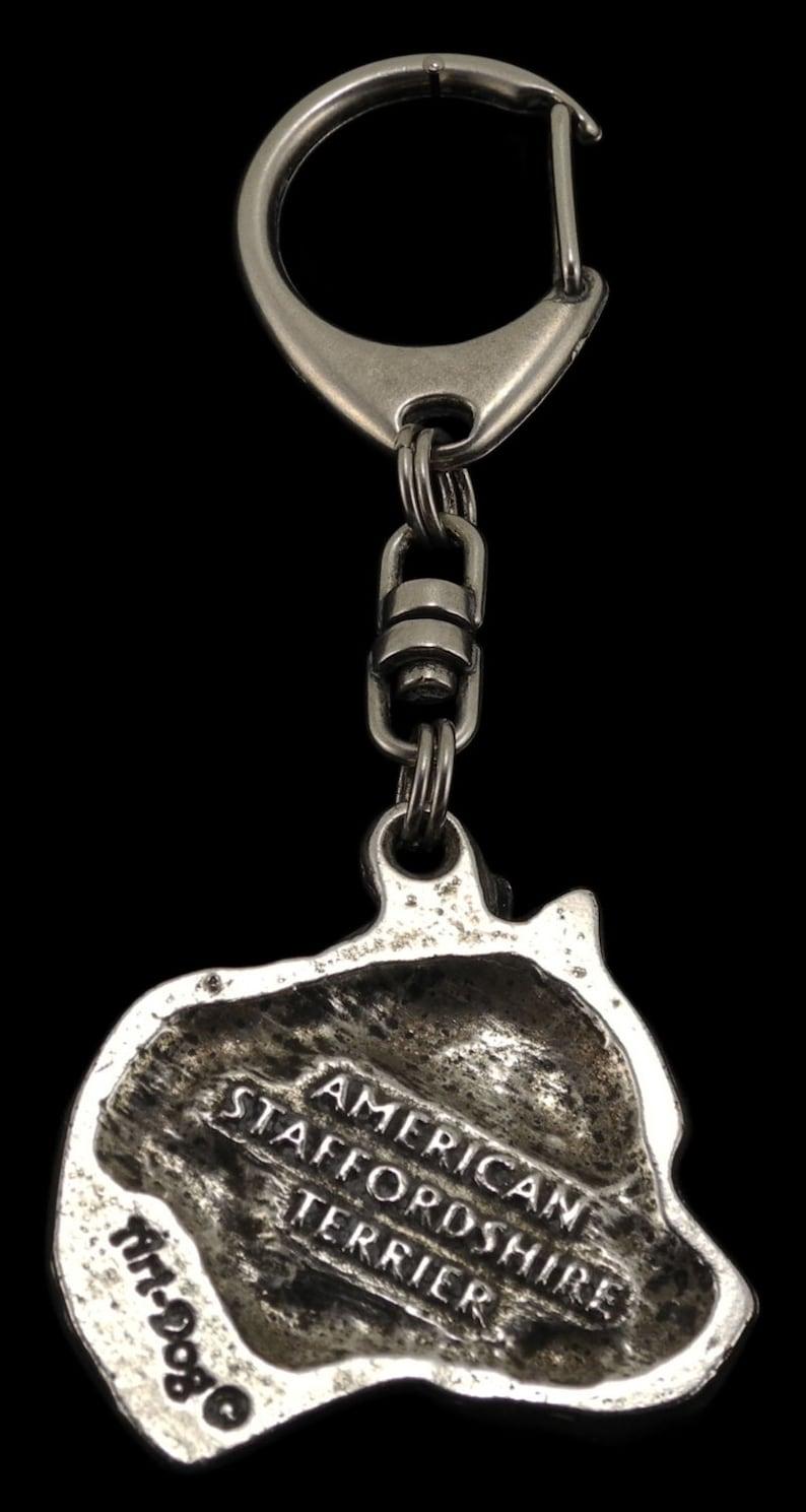 PRESTIGE set dog keyring and necklace in casket limited edition American Staffordshire Terrier no collar NEW ArtDog