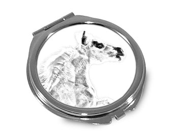 Falabella - Pocket mirror with the image of a horse.