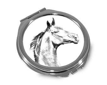 Zweibrücker - Pocket mirror with the image of a horse.