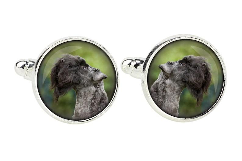 Men/'s jewellery Handmade Cufflinks for dog lovers Kerry Blue Terrier Photo jewellery