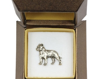 NEW, Cane Corso (body), Italian mastiff, dog pin, in casket, limited edition, ArtDog