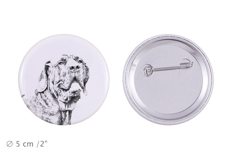 Buttons with a dog Brazilian Mastiff