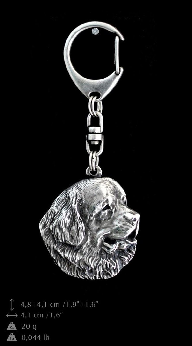 limited edition NEW The Gentle Giant Newfie Newf dog keyring and necklace in casket ArtDog Newfoundland ELEGANCE set