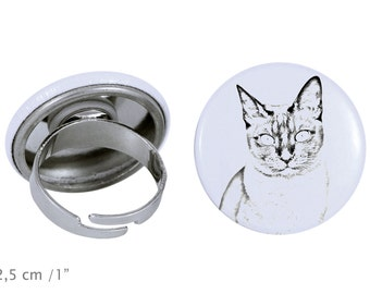 Ring with a cat - Tonkinese cat