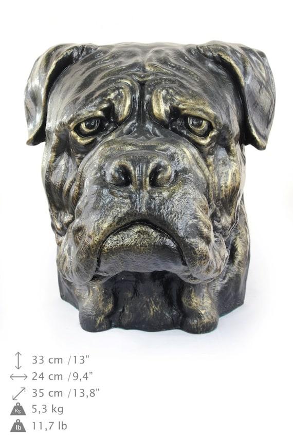 UK Cane Corso dog head urn made of Resin ArtDog
