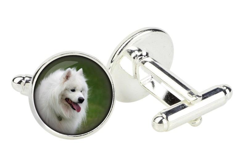 Men/'s jewellery Photo jewellery Samoyed Cufflinks for dog lovers Handmade