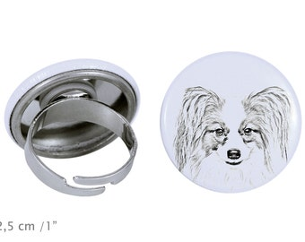 Ring with a dog - Papillon