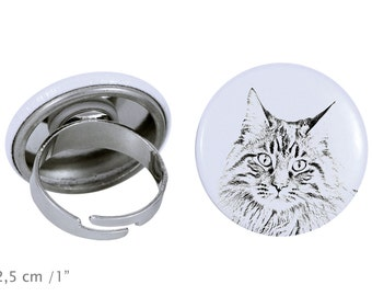 Ring with a cat - Maine Coon